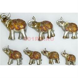 7 слонов набор (KL-1333) из полистоуна - фото 118242