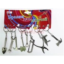 Брелок металлический (KL-900) рабочие инструменты 120 шт/блок - фото 120844