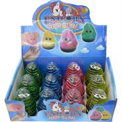 Лизун мялка Unicorn Poop Slime 12 шт/уп - фото 121046