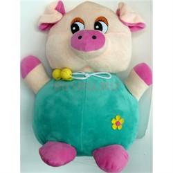 Свинка мягкая игрушка (Pig-31) символ года 6 шт/уп - фото 125748