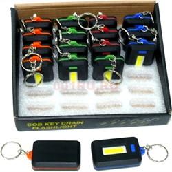 Фонарик брелок на 3ААА батарейки 3 режима 24 шт/уп - фото 125917