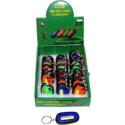 Фонарик брелок «овальный» с батарейками 24 шт/уп - фото 125923