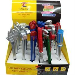 Ручка в виде инструментов с магнитом 30 шт/уп - фото 128703
