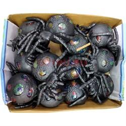 Игрушка антистресс «Паук черный + гидрогель» 12 шт/уп - фото 132619