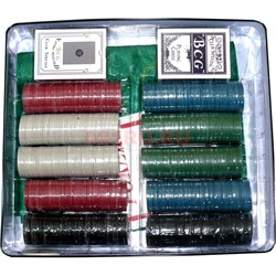 Набор для покера 500 фишек в жестяной банке - фото 133390