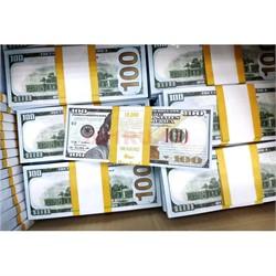 Прикол Пачка денег 100 долларов оригинального размера, иммитация - фото 135012