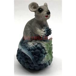 Фигурка мышонка (3) с шишкой 9 см - фото 135572