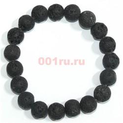 Браслет из лавы 10 мм (натуральный камень) - фото 138753