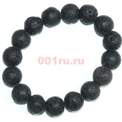Браслет из лавы 12 мм (натуральный камень) - фото 138755