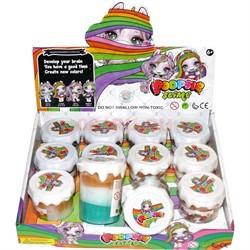 Слайм Пупси трехцветный 12 шт/уп - фото 139022