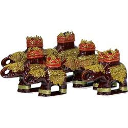 Фигурки коричневая «Слоны» набор из 7 шт - фото 139628