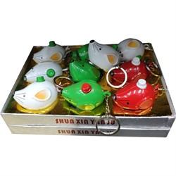 Зажигалка газовая брелок Мышка цветная - фото 141839