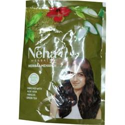 Хна Neha 55 гр натуральная с зеленым чаем и др. добавками - фото 143936
