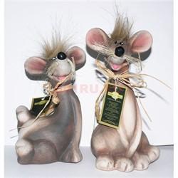 Крыса (мышь) керамическая 17 см 8 шт/уп - фото 144002