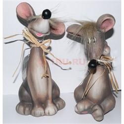 Крыса (мышь) керамическая 22 см 6 шт/уп - фото 144004