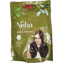 Хна Neha 140 гр натуральная с зеленым чаем и др. добавками - фото 147209