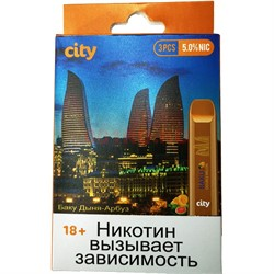 City 300 затяжек «Баку Дыня-Арбуз» электронный испаритель - фото 149669