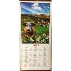 Календарь из рисовой бумаги Бык Символ 2021 года - фото 153398