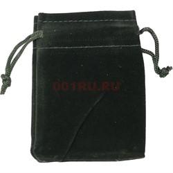 Чехол подарочный замша 9x12 см черный 50 шт/уп - фото 153523