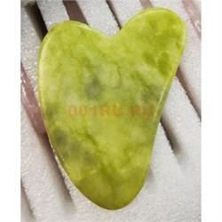 Массажер гуаша из жадеита «сердце» - фото 153572