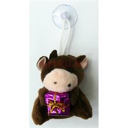 Мягкая игрушка (AZ-120-17) на присоске Бык Символ 2021 года - фото 155909