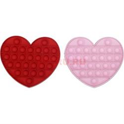 Антистрессовая игрушка Pop It сердце - фото 167685