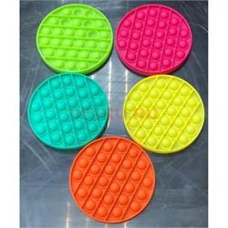 Антистрессовая игрушка Pop It круг разные цвета в ассортименте - фото 168739