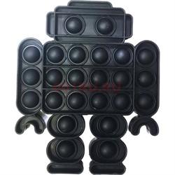 Пупырка антистресс «робот» черный - фото 170185