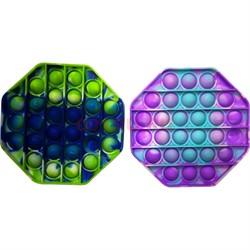 Pop it вечная пупырка силиконовая «8-угольник» разноцветный - фото 170187