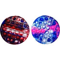 Pop it вечная пупырка силиконовая «круг» разноцветное - фото 170191