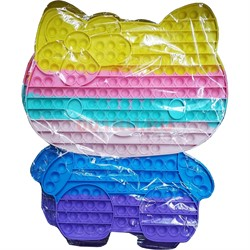 Тактильная сенсорная игрушка 42 см Hello Kitty попит цветной - фото 170690