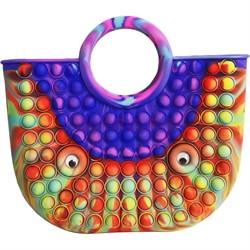 Сумочка попит 22x25 см цвета и узоры в ассортименте - фото 176219