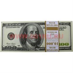 Прикол Пачка денег 100 долларов, гигантского размера 13,5х30 - фото 45504