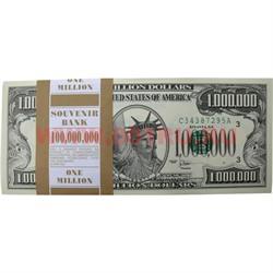 Прикол Пачка денег 1 млн. долларов, гигантского размера 13,5х30 - фото 45512