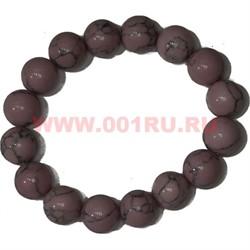 Браслет из розового кахалонга 12 мм (прессовка) - фото 45571