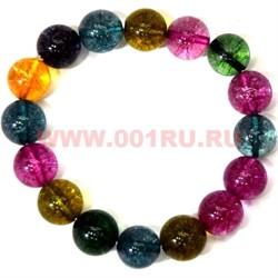 Браслет из разноцветного агата 12 мм (натуральный камень) - фото 45762