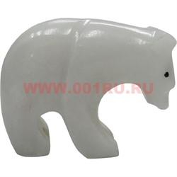 Белый медведь из белого оникса 4 см (2 дюйма) - фото 45764