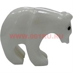 Белый медведь из белого оникса 5,2 см (2,5 дюйма) - фото 45770