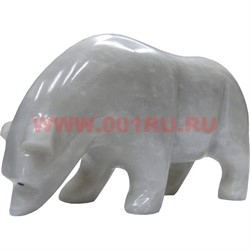Белый медведь из белого оникса 8,5 см (6 дюймов) - фото 45784
