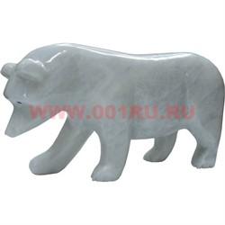 Белый медведь из белого оникса 10,5 см (8 дюймов) - фото 45786