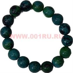 Браслет из хризаколлы 12 мм (натуральный камень) - фото 45835