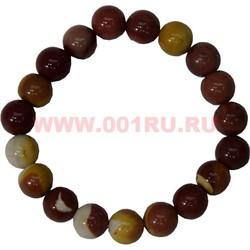 Браслет из коричневой яшмы 10 мм (натуральный камень) - фото 45855