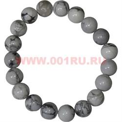 Браслет из белого кахалонга 10 мм (натуральный камень) - фото 45879