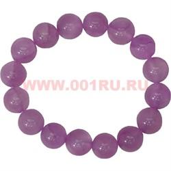 Браслет из розового агата 12 мм (натуральный камень) - фото 45883