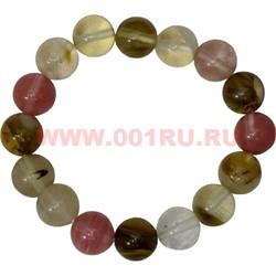 Браслет из халцедона 12 мм (натуральный камень) - фото 45910