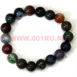 Браслет из агата разноцветного 10 мм (натуральный камень) - фото 45957