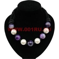 Бусы из жемчуга (майорка) и агата фиолетового - фото 46267