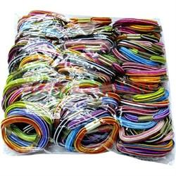 Резинка для волос разноцветная (CJ-177) цена за 180 шт - фото 46296