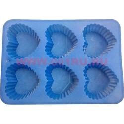 Форма для выпечки и заморозки силиконовая 17,5х24,5 цена за 100 шт, цвета в ассортименте - фото 46435