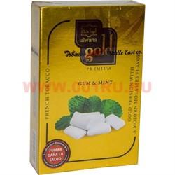 """Табак для кальяна Al-Waha Gold 50 гр """"Gum & Mint"""" (аль ваха голд Иордания жвачка с мятой) - фото 46512"""
